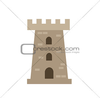 castle tower vector illustration