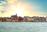 Sunrise at Grand Canal in Venice