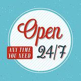 Open banner typographic design.