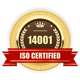 ISO 14001 certified medal - Environmental management