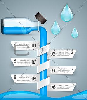 Business Infographics. Medicine bottles,  Recipe icon.