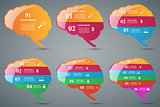 Brain infographic and business icon.