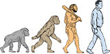 Human Evolution Walking Drawing