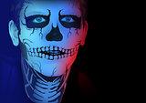 Skeleton man makeup