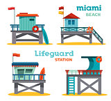 Set - lifeguard stations.