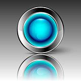 Blue futuristic circle
