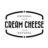 Cream Cheese vintage stamp