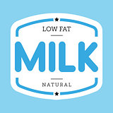 Milk vintage stamp sign