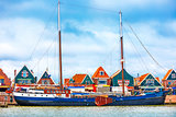 Fishing village Volendam panoramic view Holland Netherlands