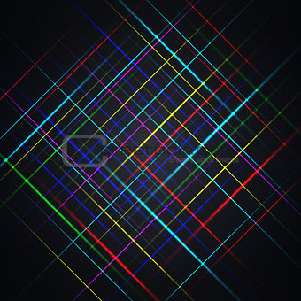 Abstract background from multi-colored bright strips, vector illustration.