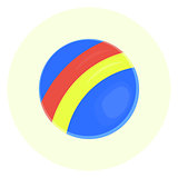 Kids toy ball vector icon
