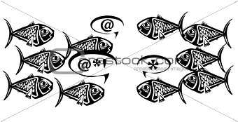Fish school discussion