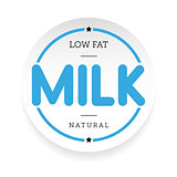 Low Fat Milk stamp sign