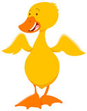 cute duckling animal character