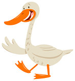 cute goose animal character