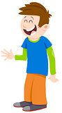 kid boy cartoon character