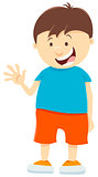 cute kid boy cartoon character