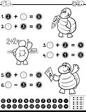 mathematical worksheet coloring book