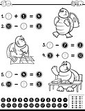 educational worksheet coloring page