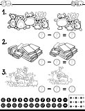 mathematical worksheet for coloring