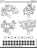 mathematical game coloring page