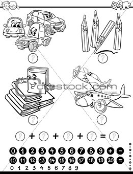 mathematical task coloring page