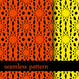 set of two seamless pattern with abstract flower. vector