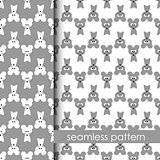 set of seamless pattern with mouse. vector