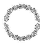 Mandala. Ethnic decorative round element. Hand drawn lacy patterned frame.