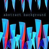 Abstract bright unusual fantasy background