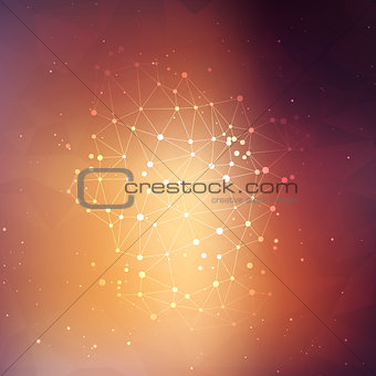 Abstract background with connecting dots