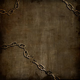 Grunge background with broken chains