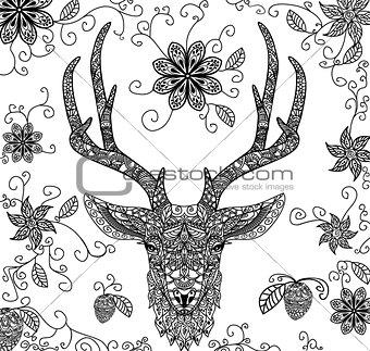Black dear pattern