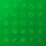 Crypto Currency Line Icons
