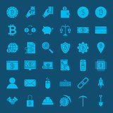 Cryptocurrency Glyphs Website Icons