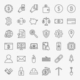 Cryptocurrency Line Icons Set