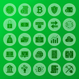 Cryptocurrency Solid Circle Icons