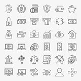 Bitcoin Line Icons Set