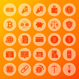 Bitcoin Solid Circle Icons