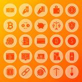 Bitcoin Solid Circle Icons