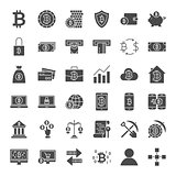 Bitcoin Solid Web Icons
