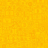 Bitcoin Yellow Line Tile Pattern
