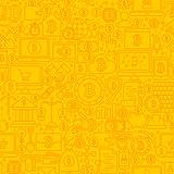 Bitcoin Yellow Line Tile Pattern