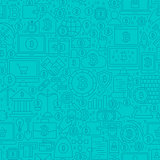 Blue Cryptocurrency Line Tile Pattern