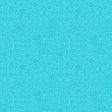 Blue Line Bitcoin Seamless Pattern