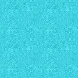 Blue Line Bitcoin Seamless Pattern