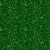 Green Line Bitcoin Seamless Pattern