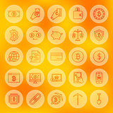 Line Bitcoin Web Icons