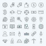 Line Cryptocurrency Icons