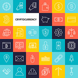 Vector Line Cryptocurrency Icons